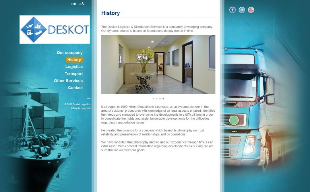 Deskot. Εταιρία logistics
