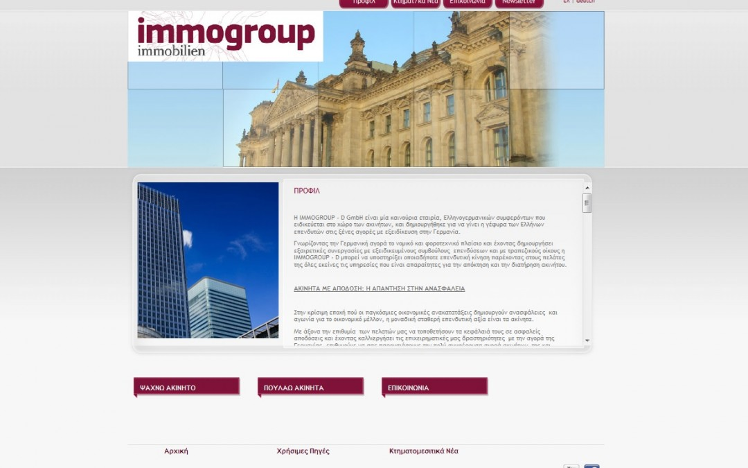 Immogroup.  Germany Real estate